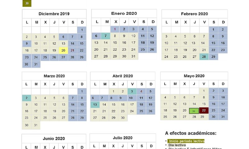 Calendario Escolar Madrid 2020 2019.Calendario Escolar De Getafe 2019 2020 Educacion